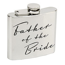 Amore 5oz Stainless Steel Hip Flask - Father of the Bride