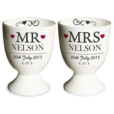 Mr & Mrs Personalized Egg Cups