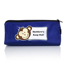 Personalized Boy's Pencil Case with Monkey Face