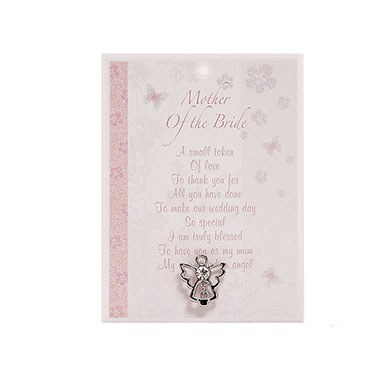 Mother of the Bride Angel Pin