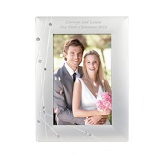 Personalized Diamante Photo Frame Small
