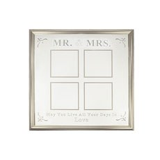 Mr & Mrs 4 Aperture Silver Frame