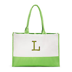 Colorblock Tote - Garden Collection Grass Green