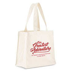 Our Greatest Adventure Personalized Tote Bag