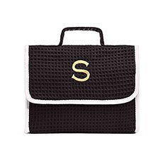 Stand Up Waffle Cosmetic Bag - Black