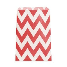 Chevron Favor Bags - Red