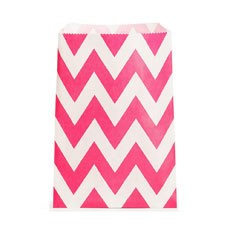 Chevron Favor Bags - Hot Pink