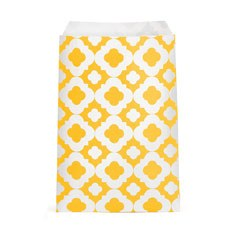 Mod Print Favor Bags - Yellow