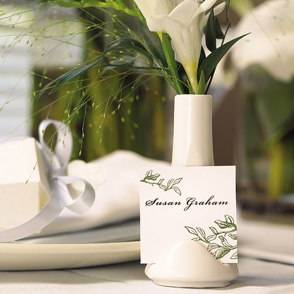 Small Vase Place Card Holder White