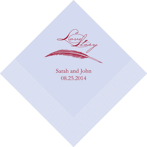 Love Story Printed Napkins