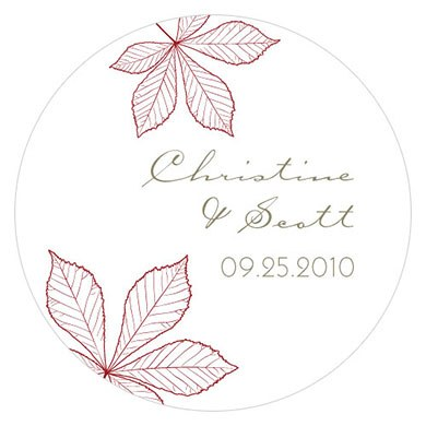 Autumn Leaf Small favor Sticker
