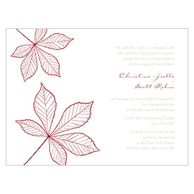 Autumn Leaf Wedding Invitation