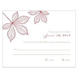 Autumn Leaf Wedding RSVP Card