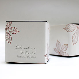 Autumn Leaf  Wedding Favor Box Wrap