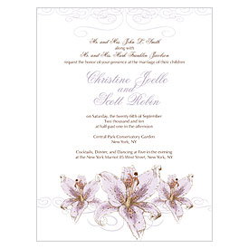 Lily Wedding Invitation