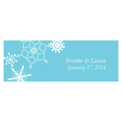 Winter Finery Small Rectangular Wedding Favor Tag