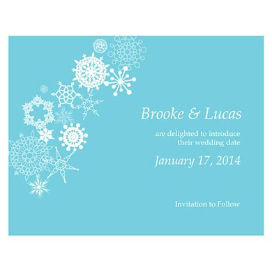 Winter Finery Wedding  Save The Date Card