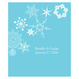 Winter Finery Rectangular Wedding Label