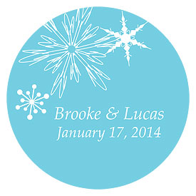 Winter Finery Large Wedding Favor Sticker