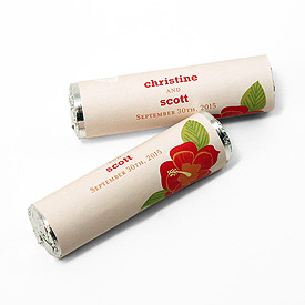 Tropical Bliss Personalized Wedding Candy Roll Wrap