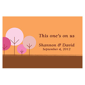 round tree large Wedding Drink ticket stationery