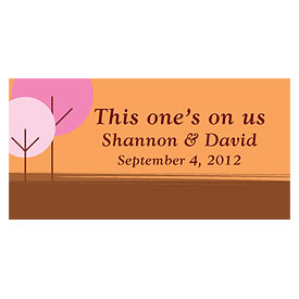 round tree small Wedding Drink ticket stationery