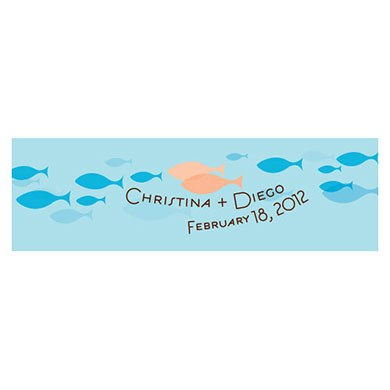 Of All The Fish In The Sea Small Rectangular Gift or Favor Tag