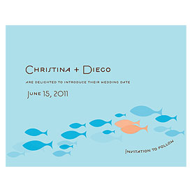 Of All The Fish In The Sea Save The Date Card