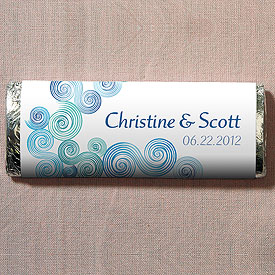 Sea Breeze Chocolate Bar Wedding Favor