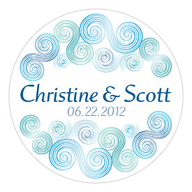Sea Breeze Small Wedding Favor Sticker