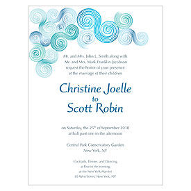Sea Breeze Wedding Invitation Stationery