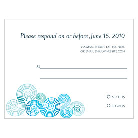Sea Breeze Wedding RSVP Card