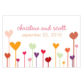 Hearts Large Rectangular Favor Tags