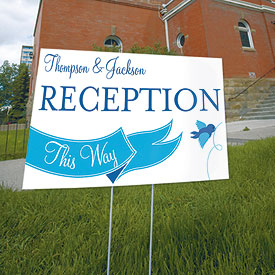 A Little Bird Told Me Wedding Reception and Ceremony Road Signs
