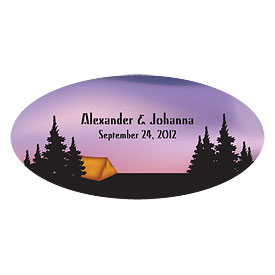 Camping Small Wedding Window Cling