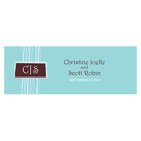 modern medley small rectangular wedding tag stationery