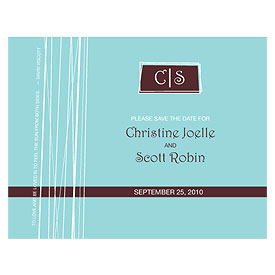 Modern Medley Wedding Save The Date Card