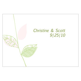 Green Organic Large Rectangular Favor Tags