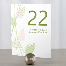 Green Organic Wedding Table Numbers