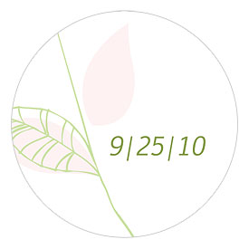 Green Organic Small Wedding Stickers