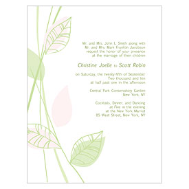 Green Organic Wedding Invitation