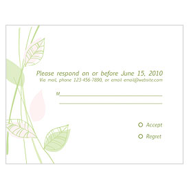 Green Organic Response Card