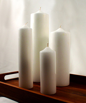 Round Pillar Wedding Candles
