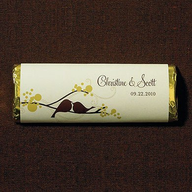 Love Bird Chocolate Bar Wedding Favor
