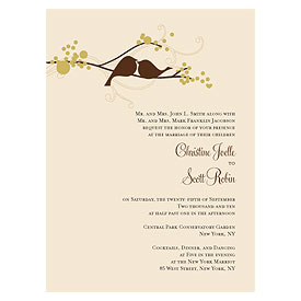 love bird wedding invitation stationery