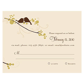 love bird wedding rasp stationery