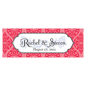 Moroccan Small Rectangular Wedding Favor Tag