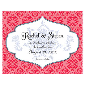 Moroccan Wedding Save The Date Card