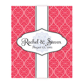 Moroccan Rectangular Wedding Favor Label
