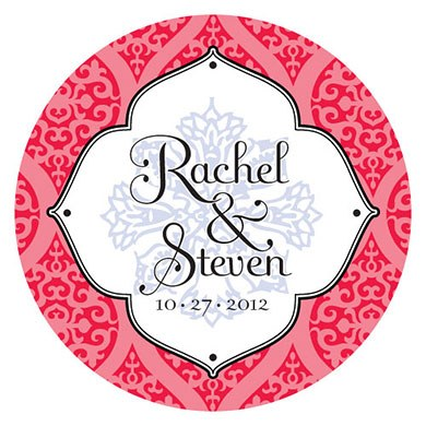 Moroccan Large Wedding Favor Sticker